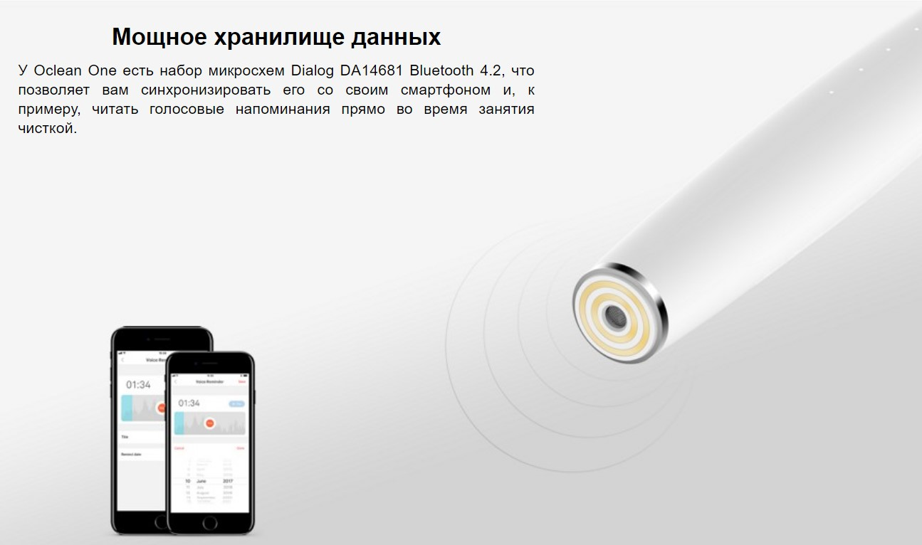 Электрическая зубная щетка Xiaomi Oclean One Smart Sonic Eleсtric Toothbrush